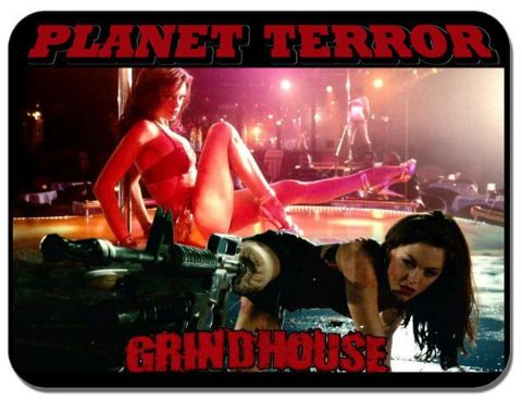 Planet Terror Grindhouse Movie Poster Mouse Mat. Horror Film Novelty Mouse pad